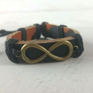 Jewelry - Leather Cuff W/ Infinity Charm